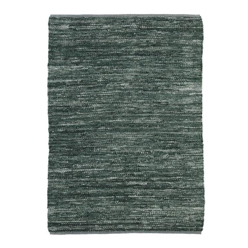 Tapis en cuir tressé bleu gris 120x170