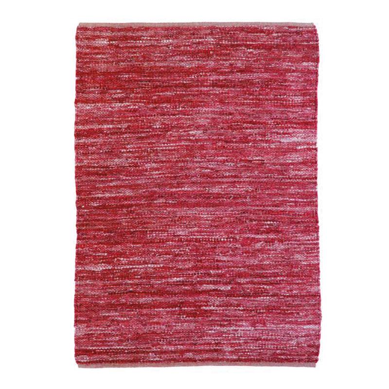 Tapis en cuir tressé burgundy 120x170