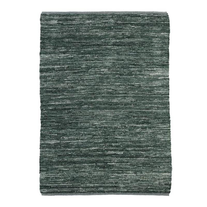 Tapis en cuir tressé bleu gris 160x230