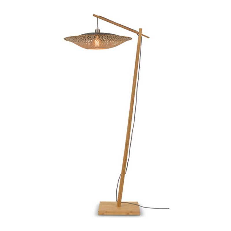 Lampadaire en bambou suspendu H176cm