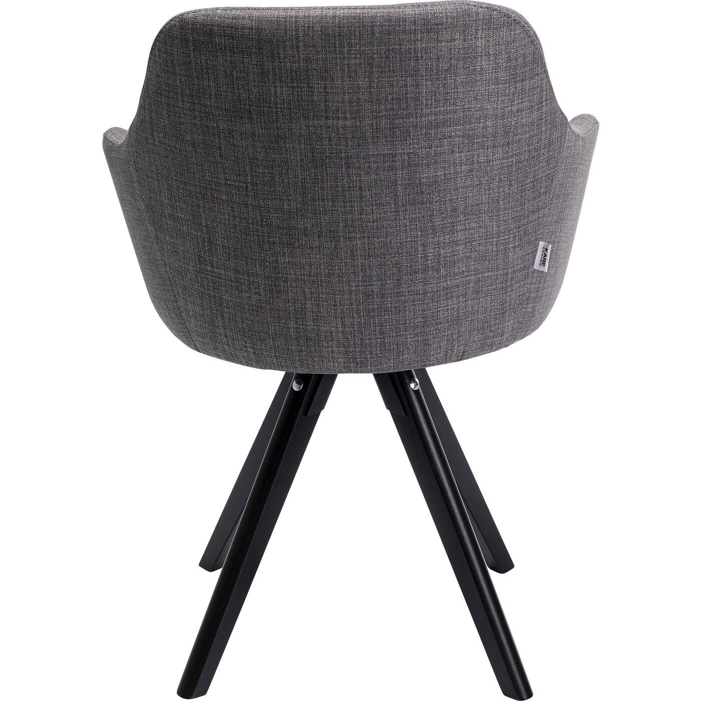 Chaise grise et hêtre noir