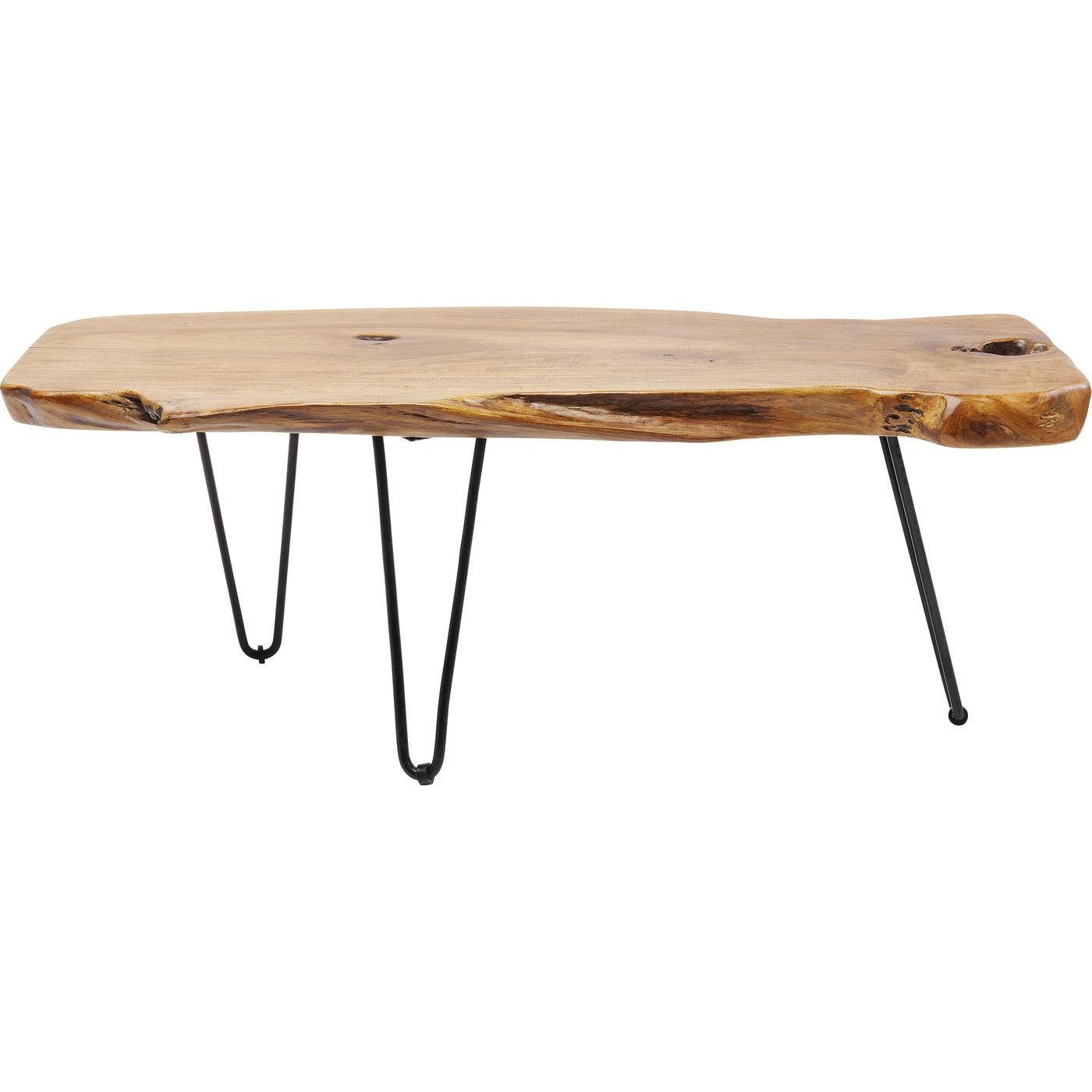 Table basse en teck massif et acier