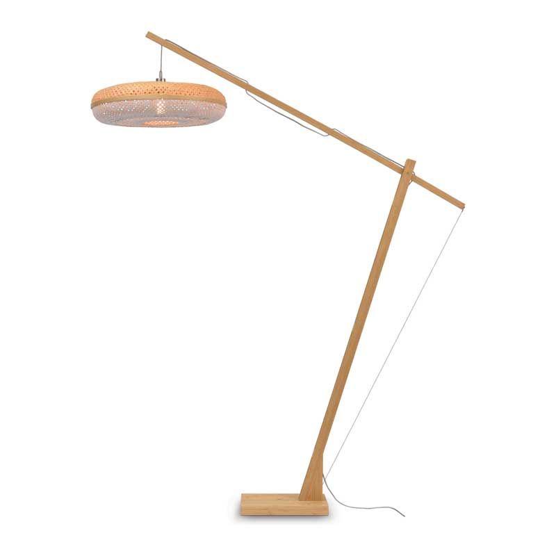 Lampadaire en bambou blanc H207cm