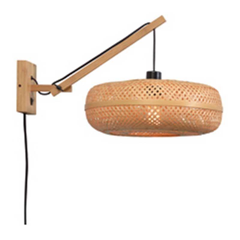 Applique bambou naturel 2 bras L55cm