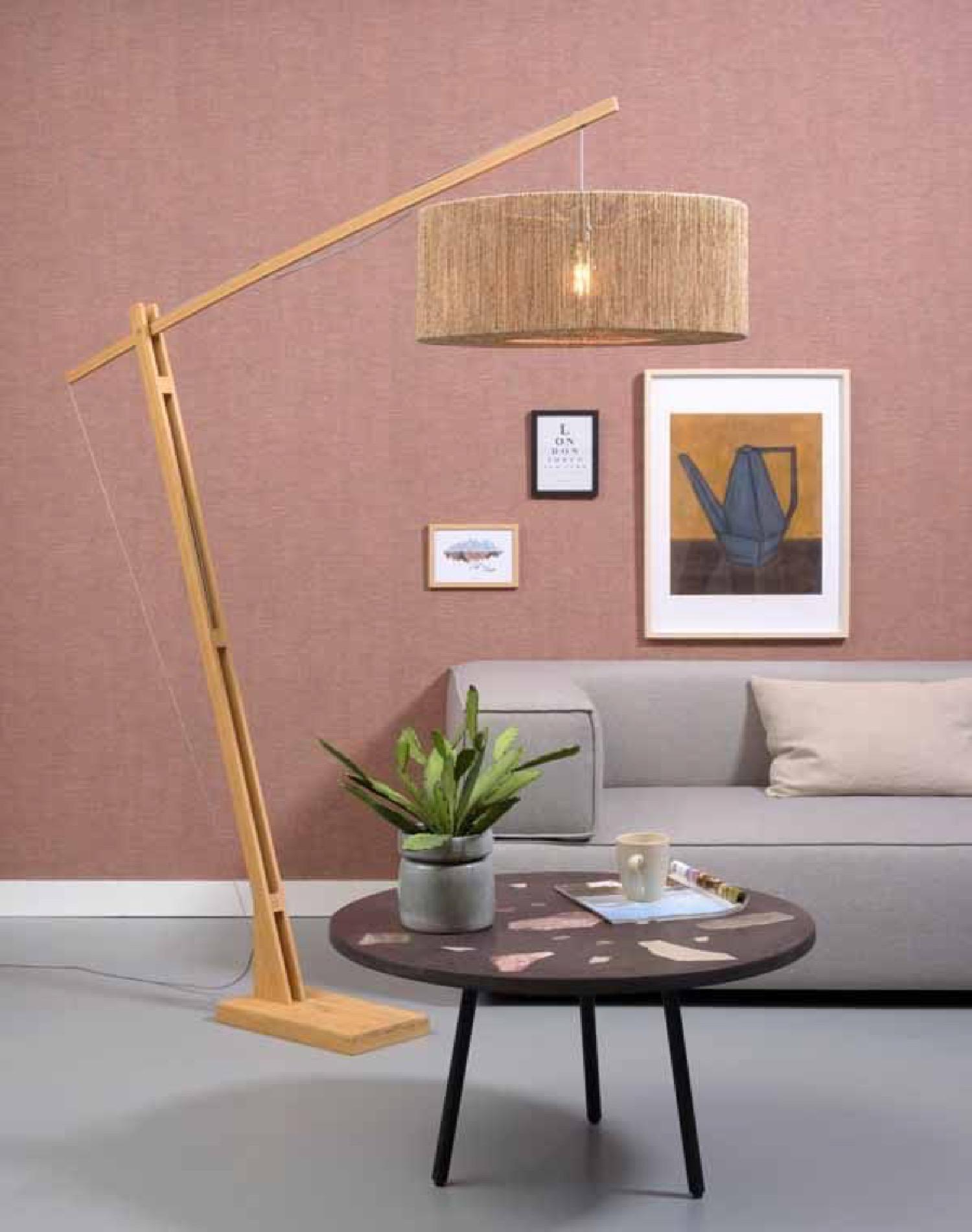 Lampadaire bambou/jute H207cm