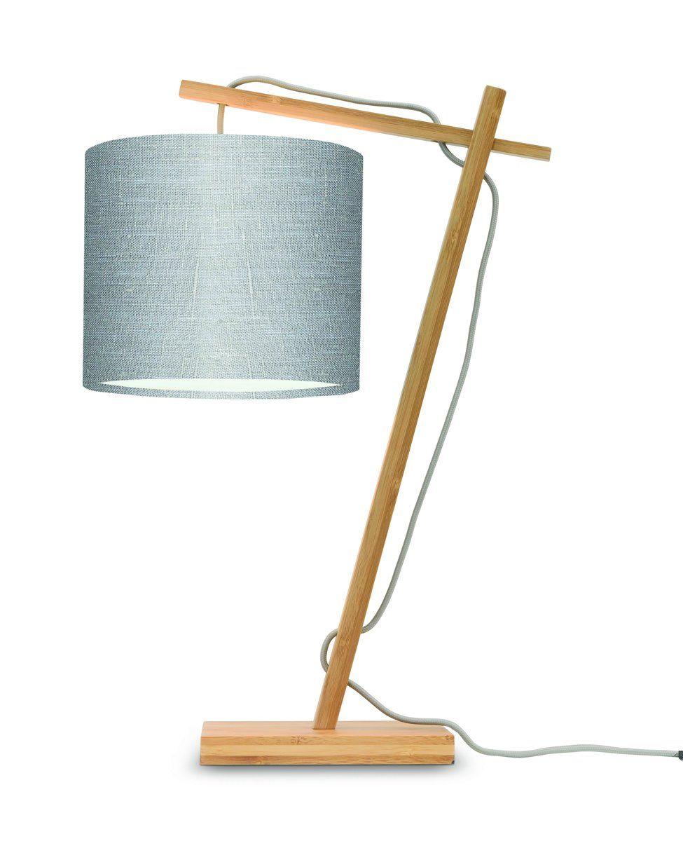 Lampe de table bambou/lin H46cm