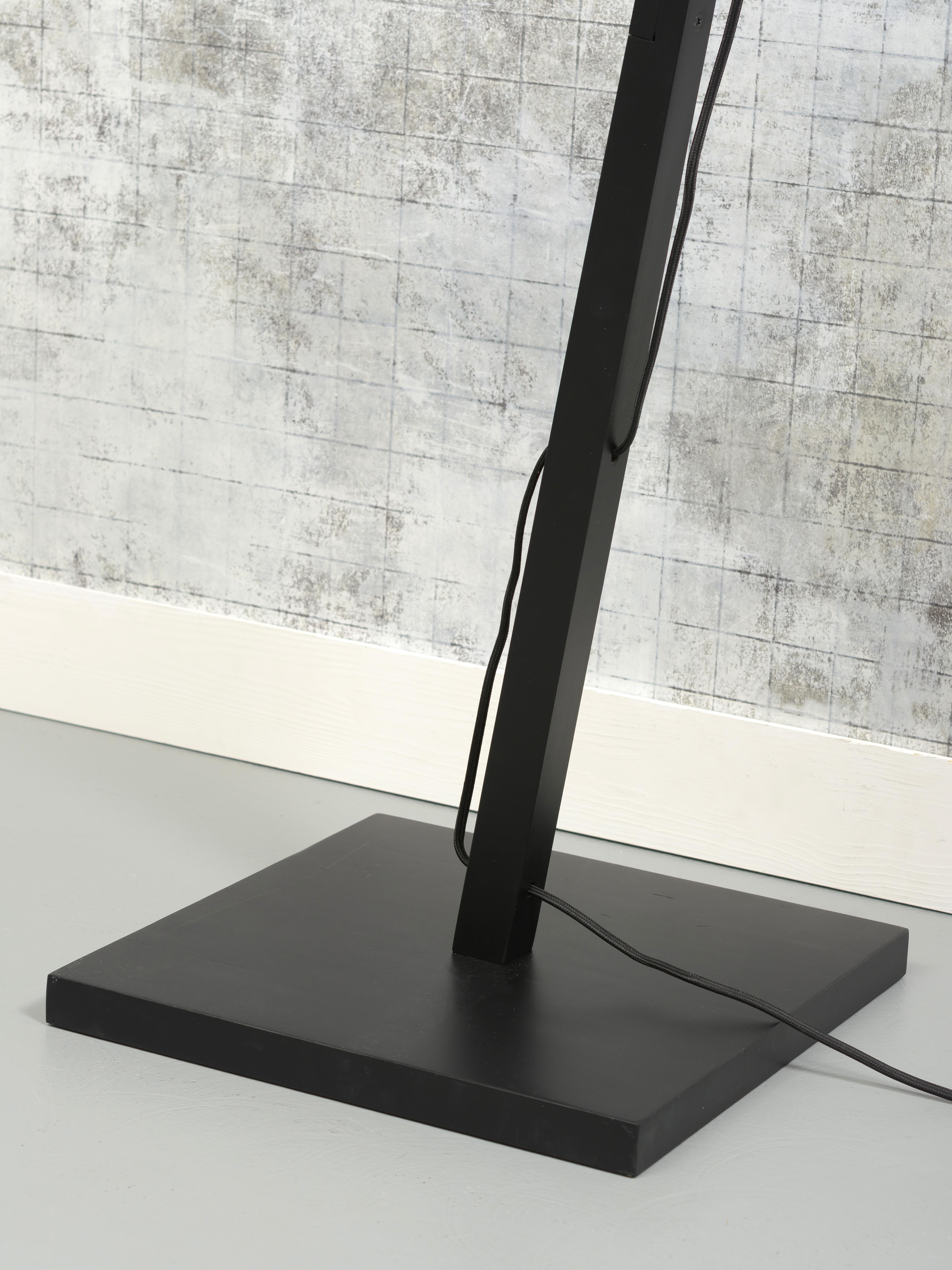 Lampadaire bambou noir H176cm
