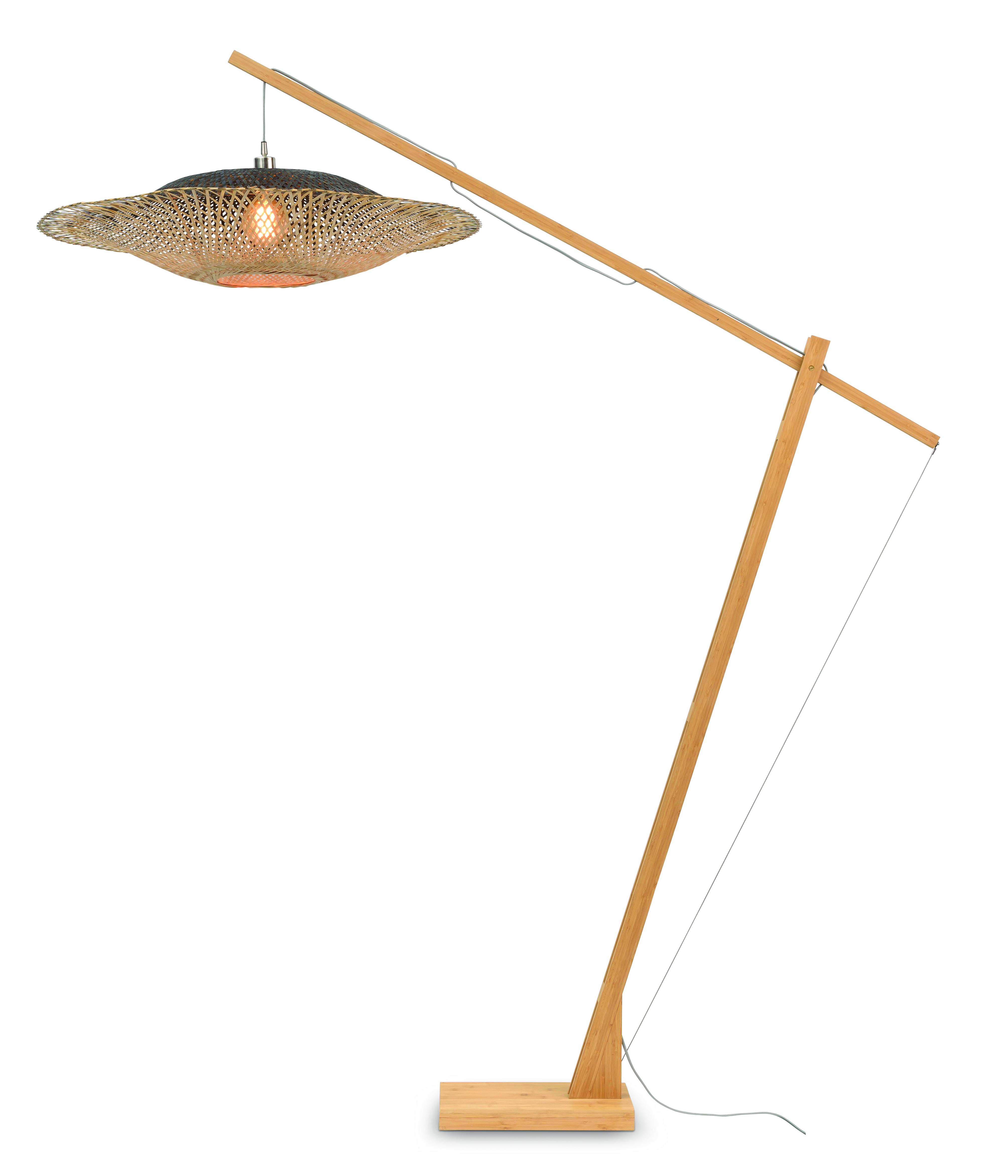 Lampadaire en bambou suspendu D207cm