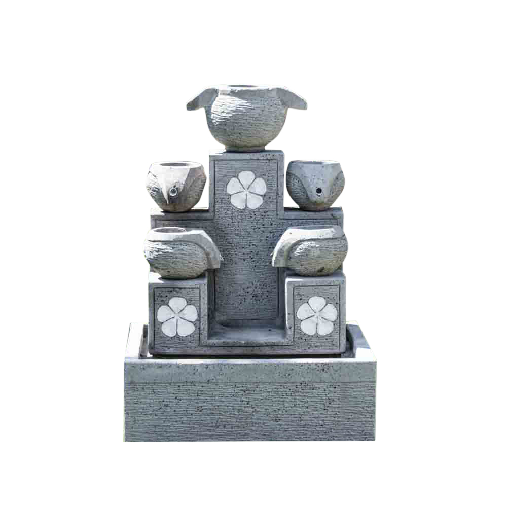 Fontaine 5 coupes grise H90cm