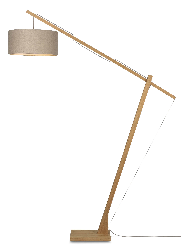 maison du monde Lampadaire bambou/lin gris H207cm