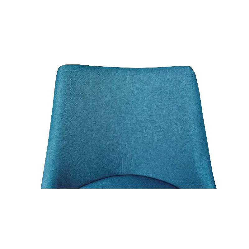 Lot 2 chaises tissu bleu et pieds luge métal noir