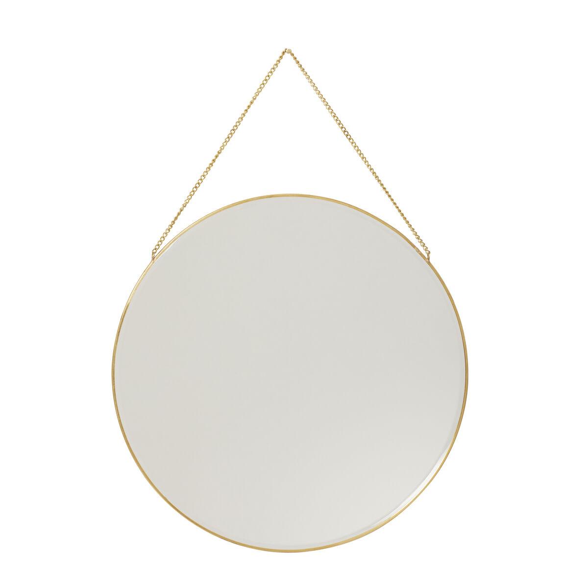 Miroir mural rond en laiton D40