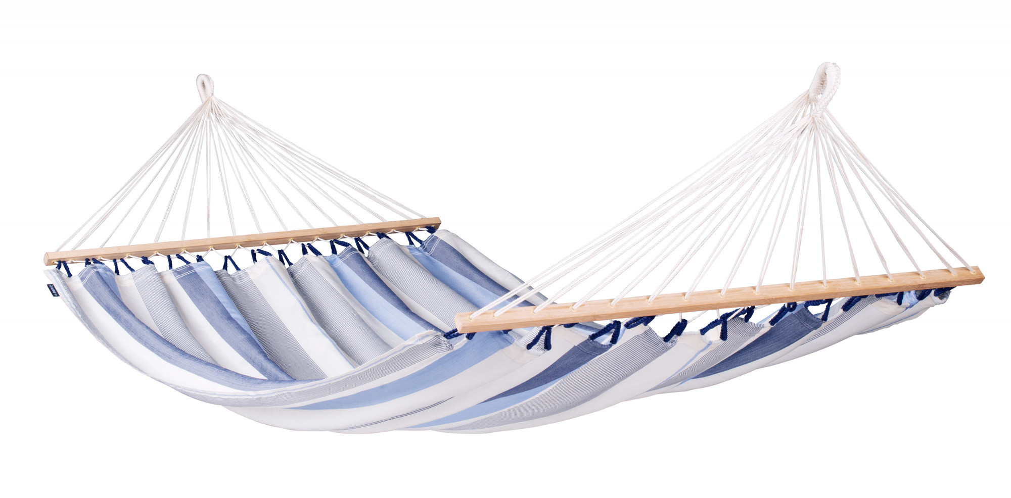 Hamac à barres double en tissu bleu clair