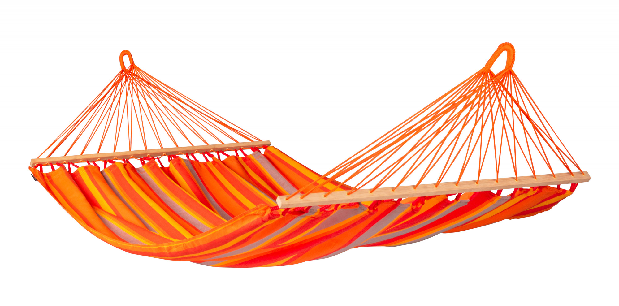 Hamac à barres double en tissu orange