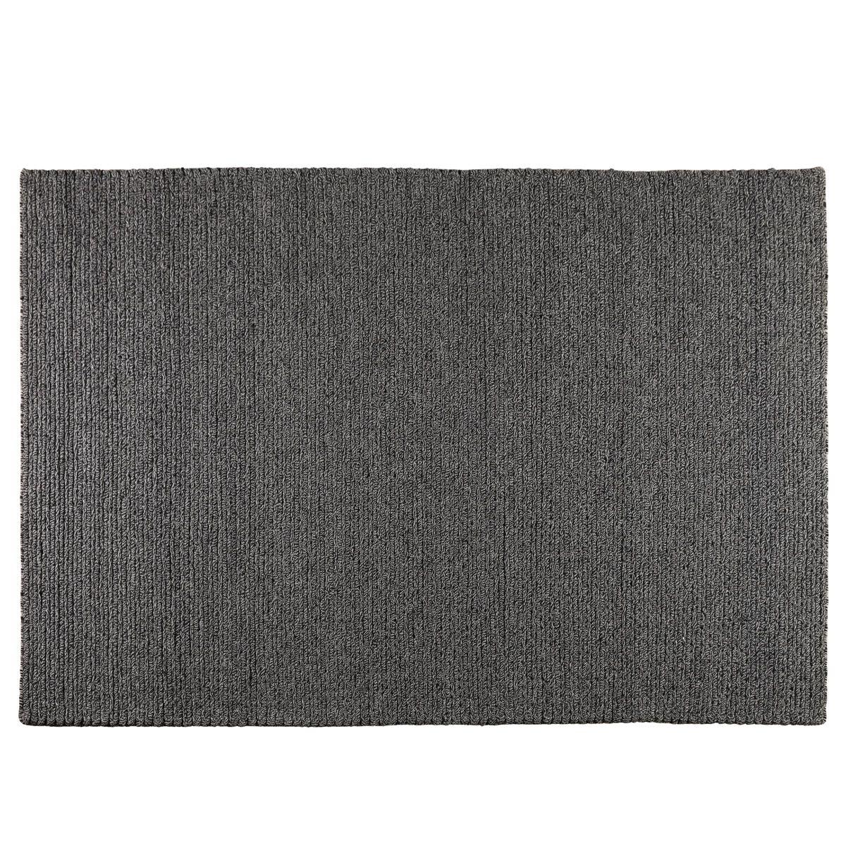 Tapis blanc et noir en laine 160 x 230 cm