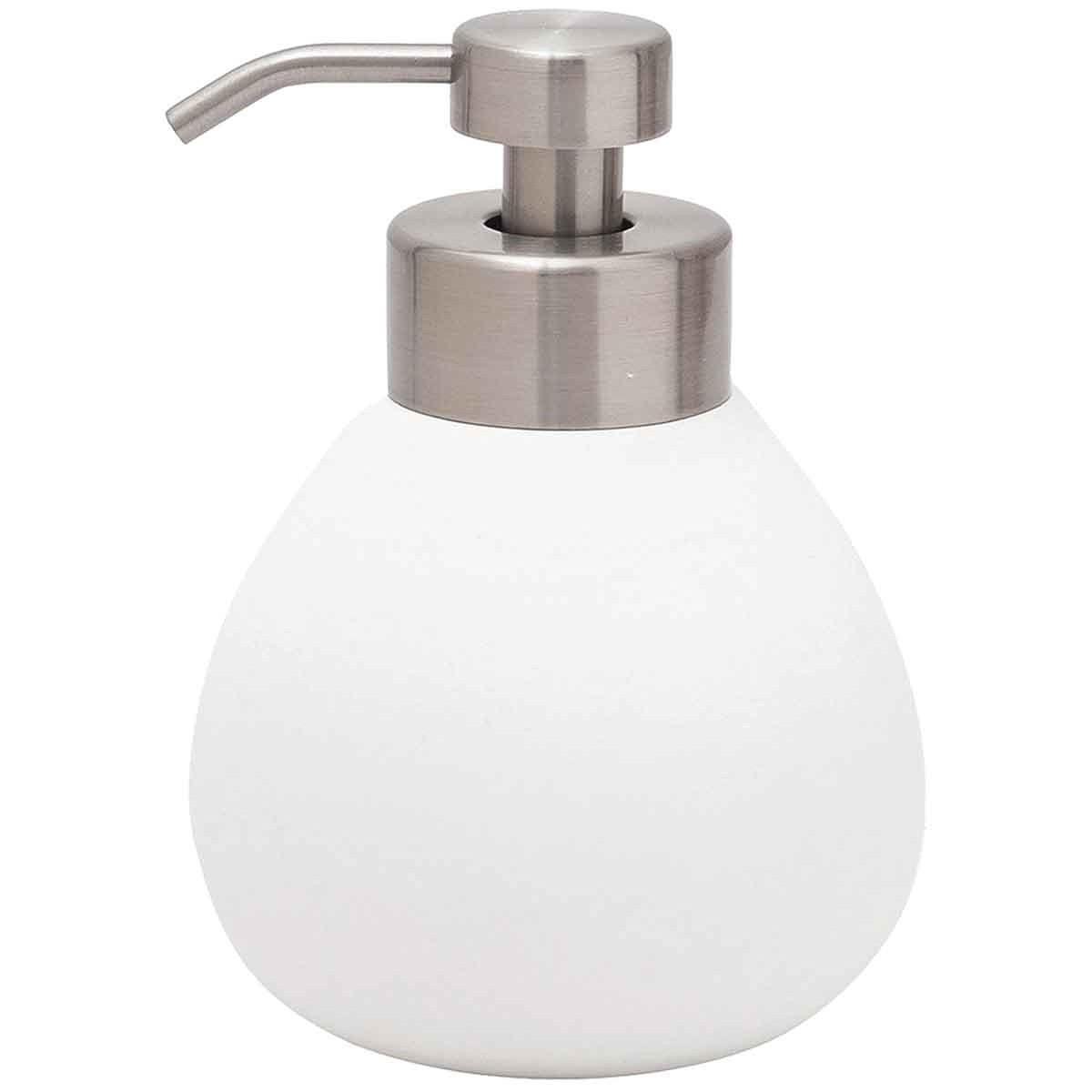 Distributeur de savon en céramique  Blanc
