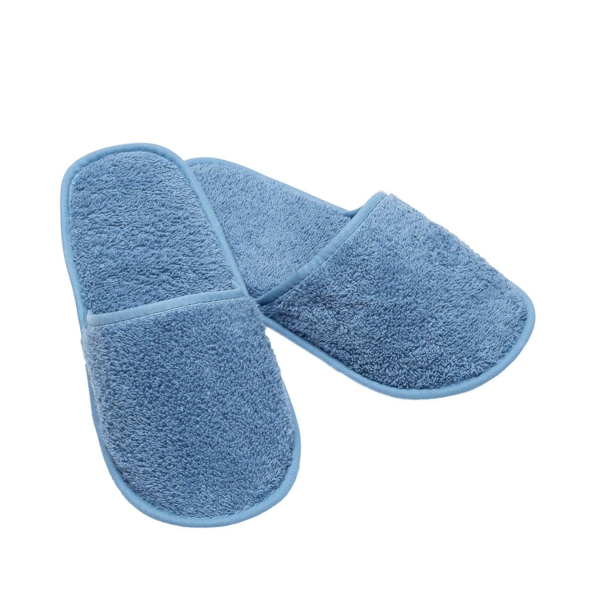 Chausson de bain en eponge bleu ciel taille 40 (photo)