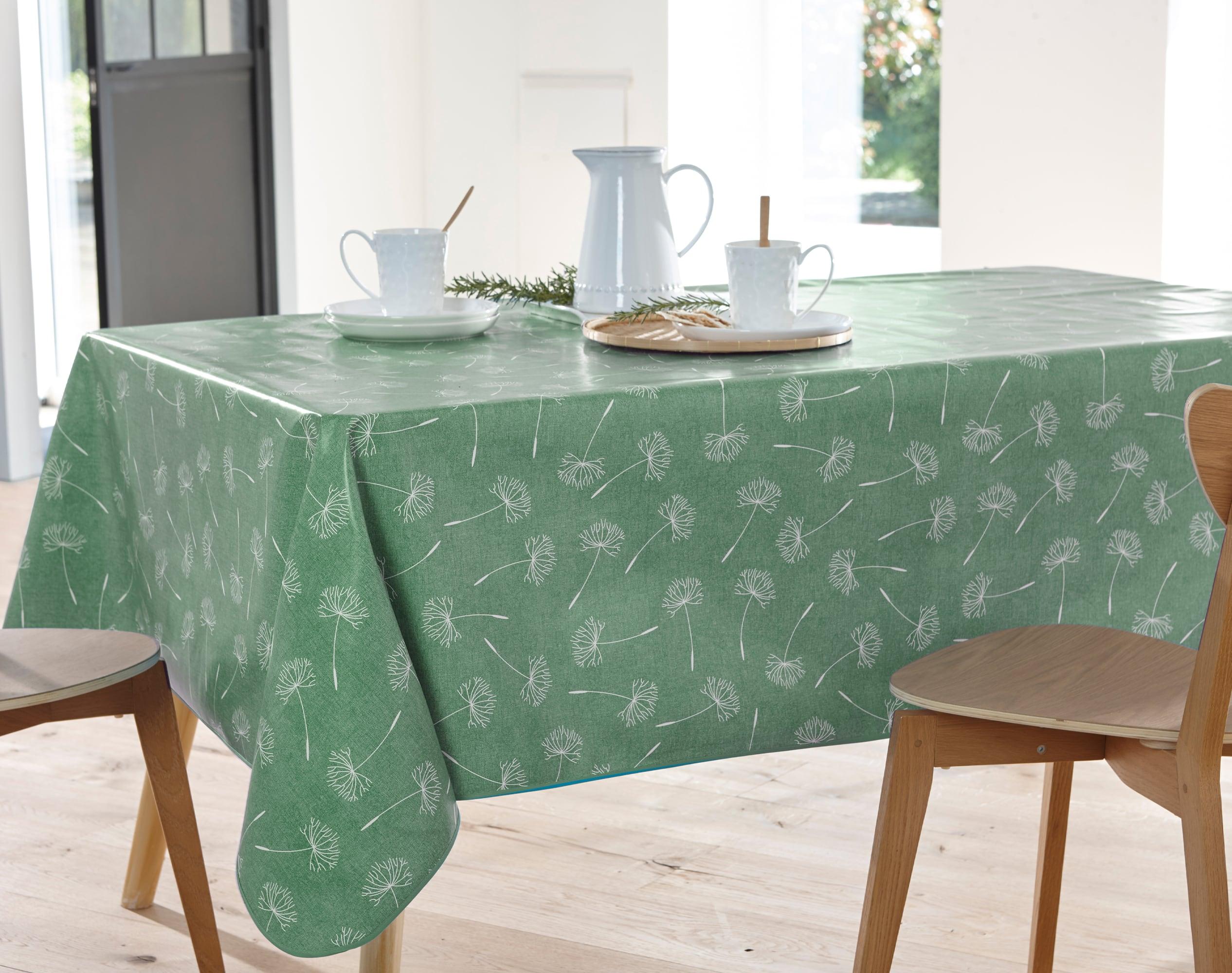 Nappe rectangulaire vert en à motifs 138x160