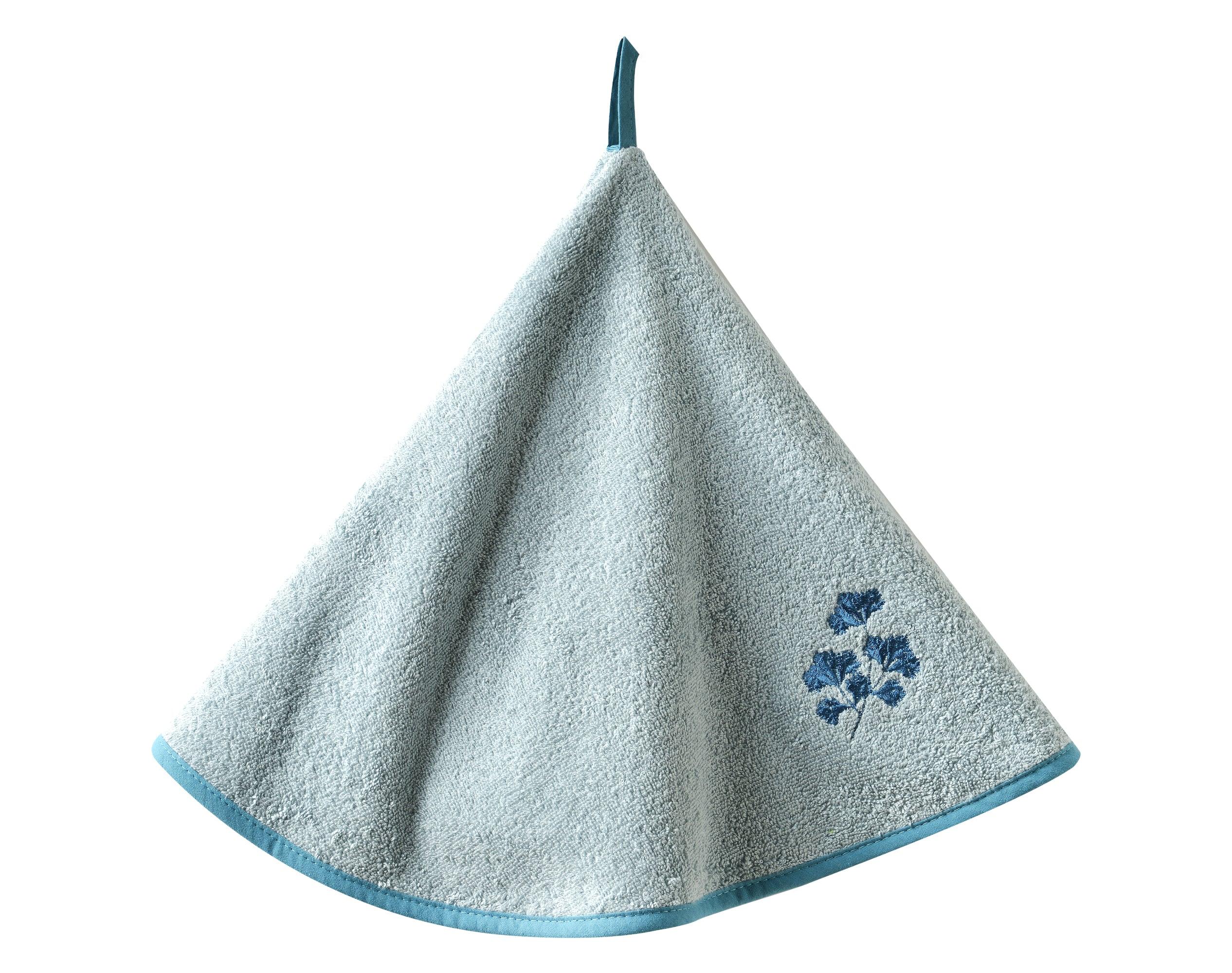 Essuie-mains bleu en coton 60x60