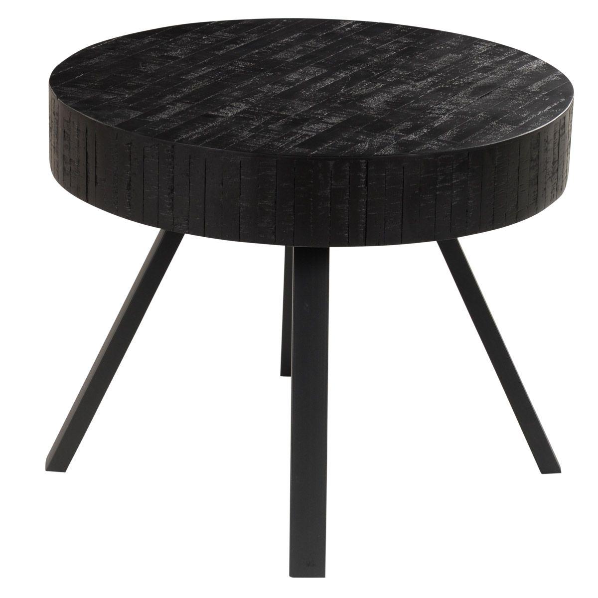 Table basse en teck recyclé noir H45