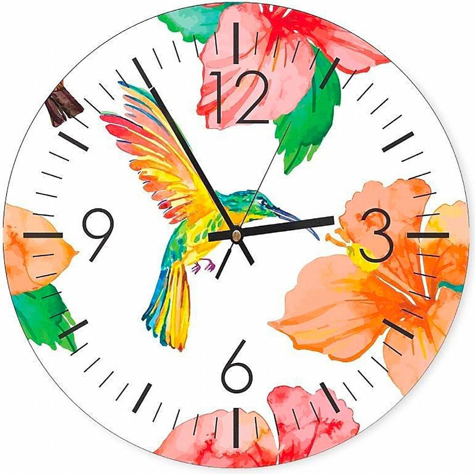 Horloge colibri orange D40