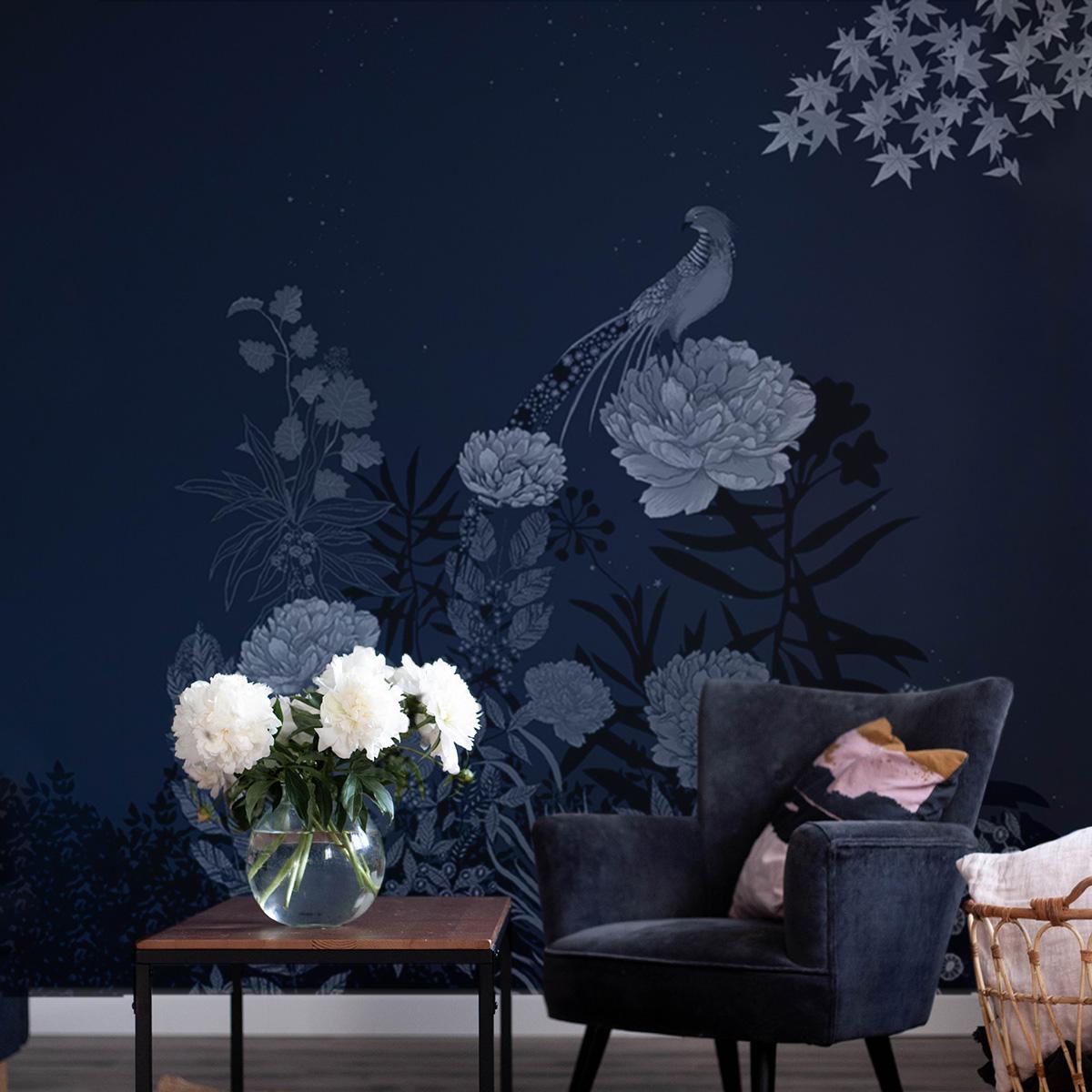Papier-peint faisan nocturne 255x250
