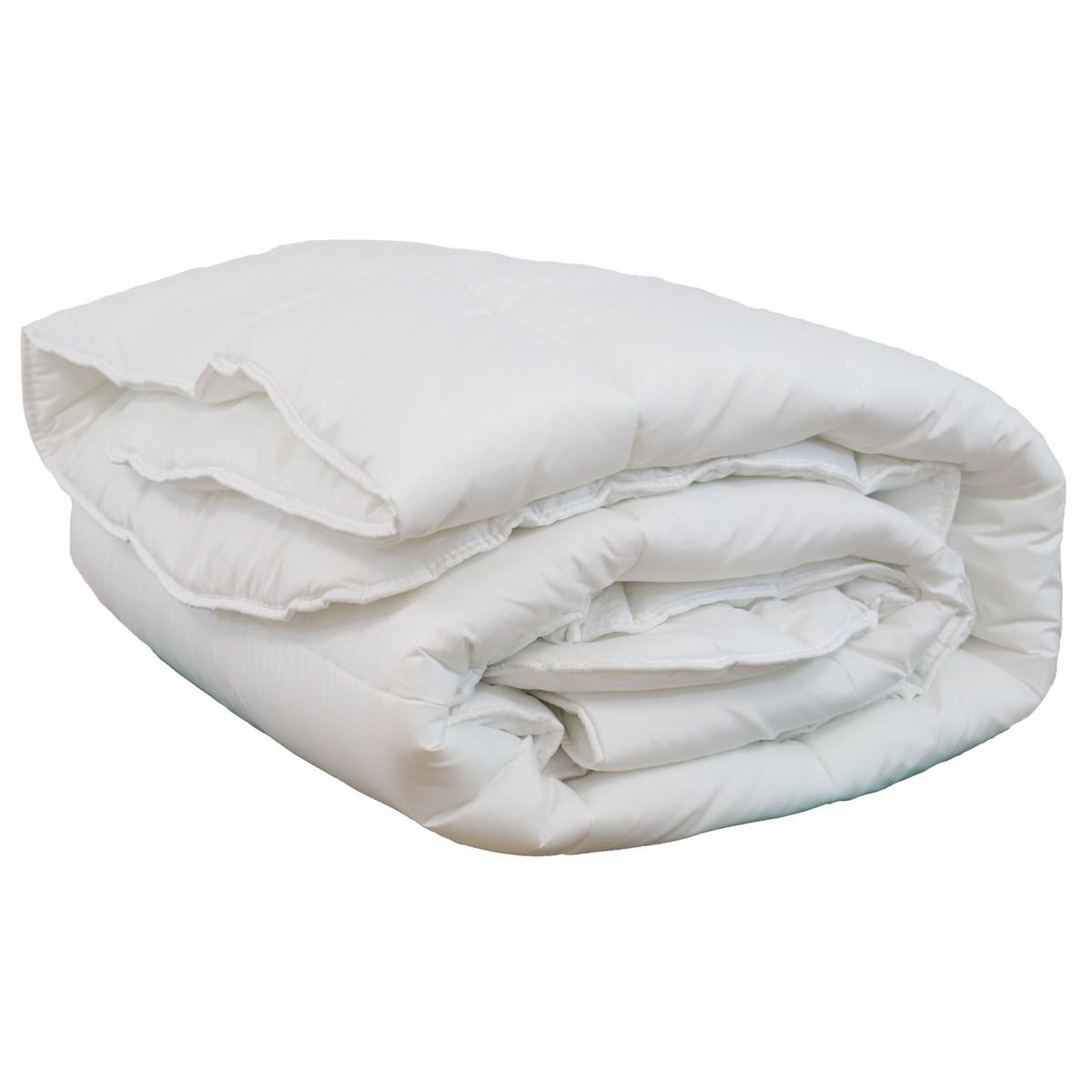 Couette blanche 550gr hiver en polyester blanc 140x200 cm