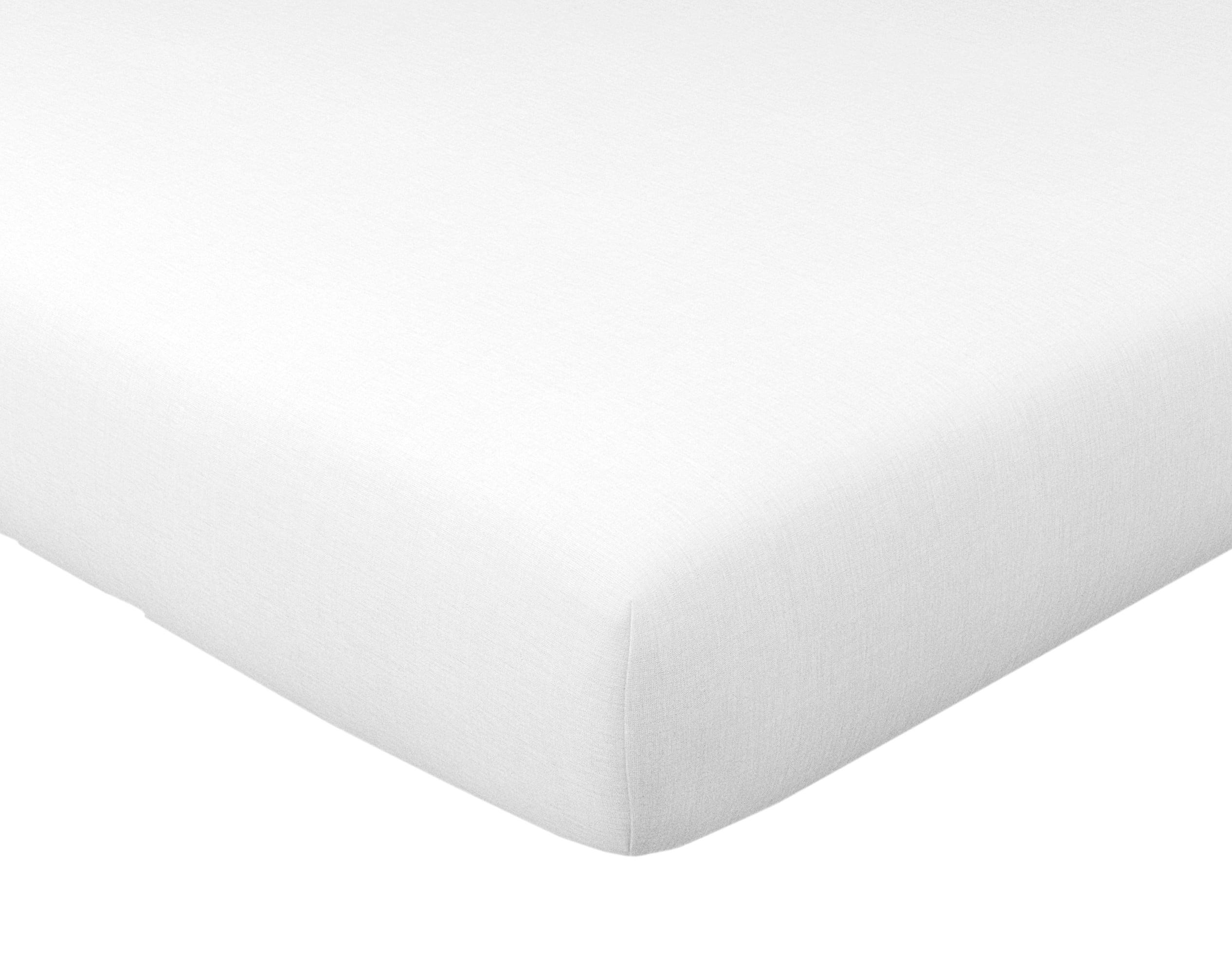 Drap-housse 140x190 en coton blanc