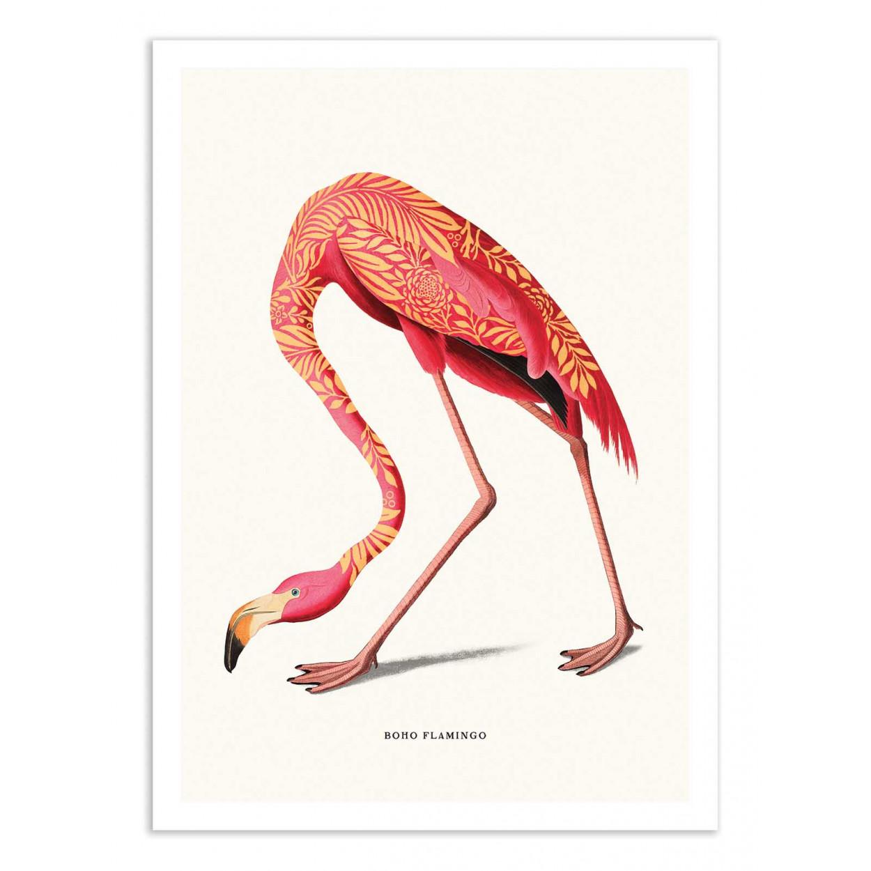 BOHO FLAMINGO -  Affiche d'art 50 x 70 cm