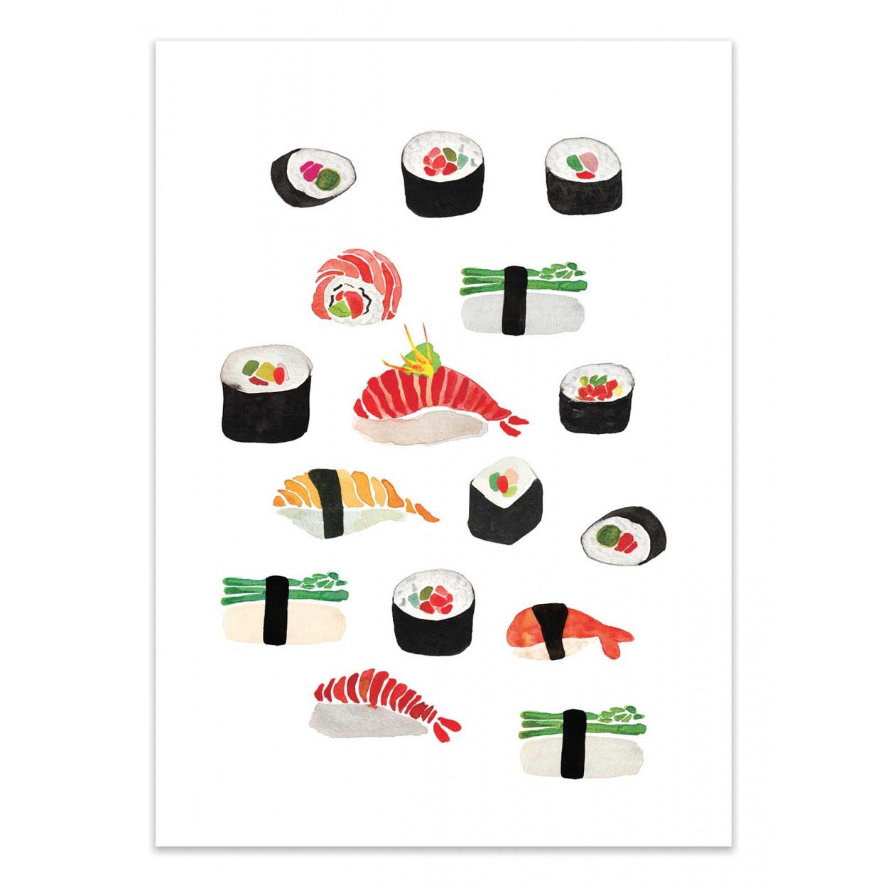 SUSHI - Affiche d'art 50 x 70 cm