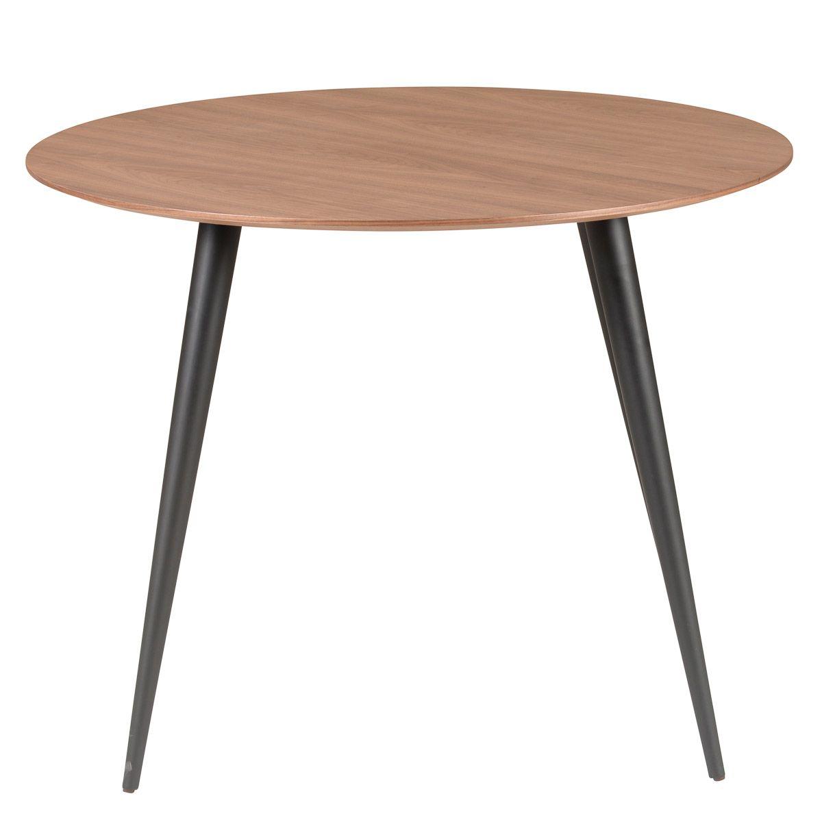 Table repas ronde 100 cm en noyer