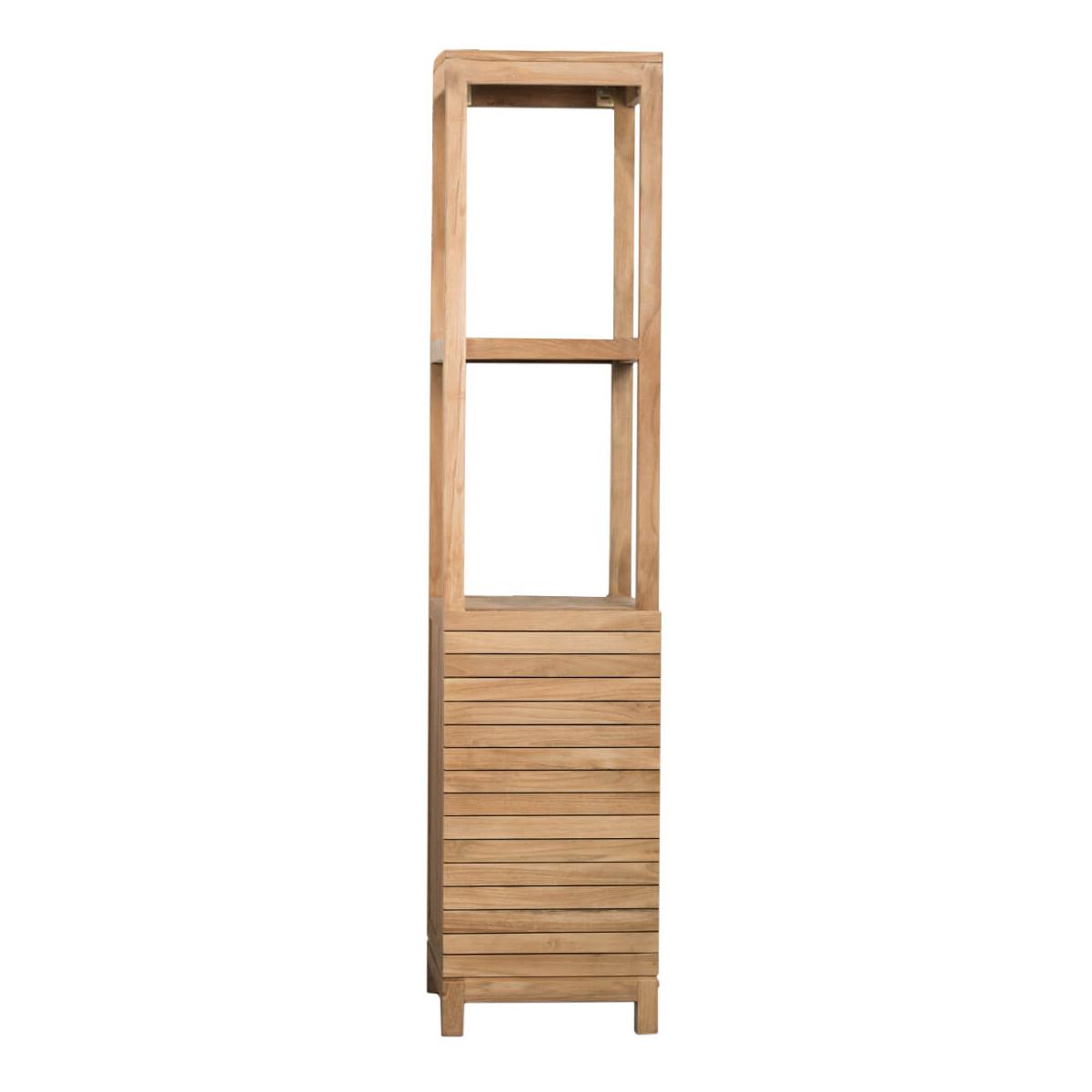 Colonne de salle de bain en teck H180cm