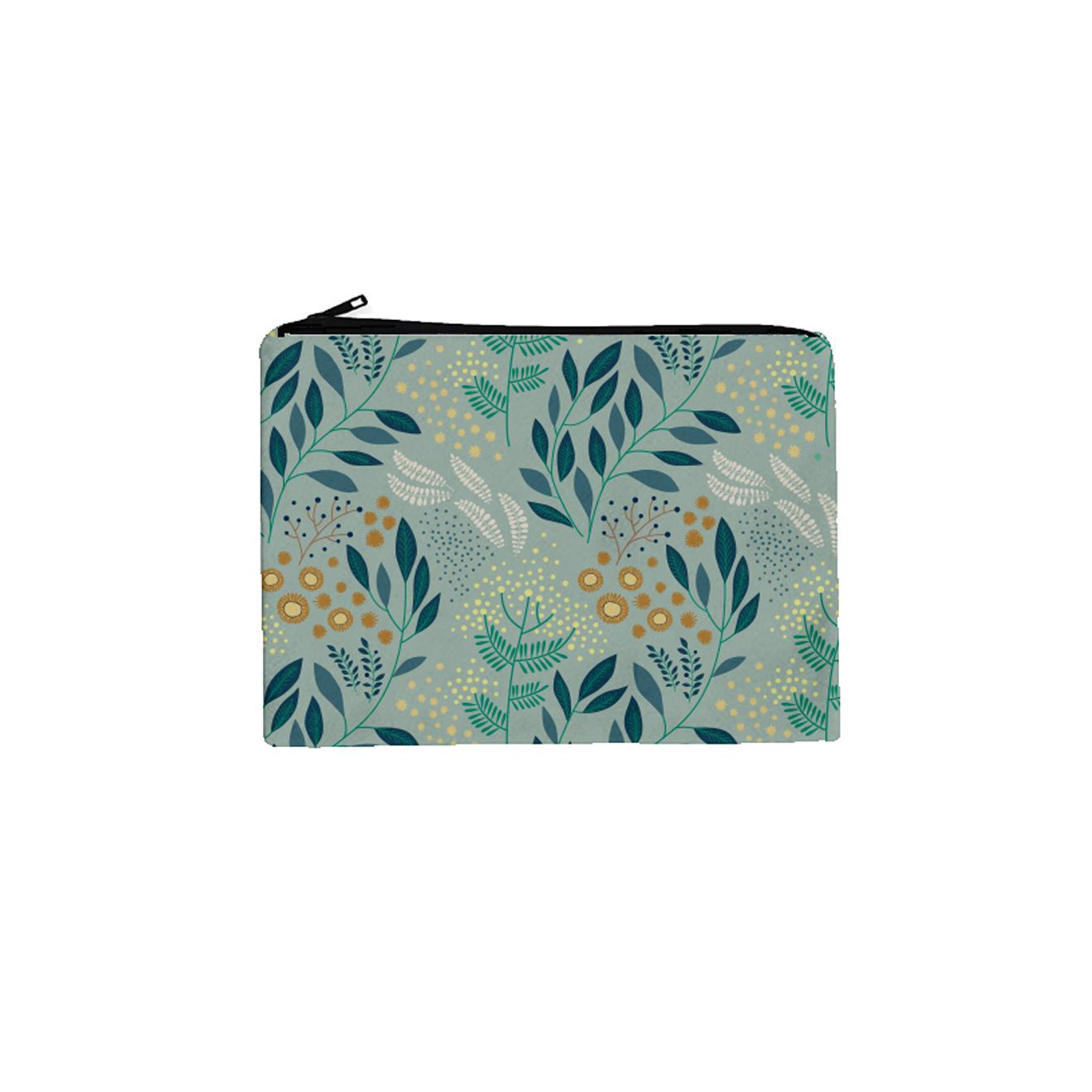 Trousse cosmetique en coton mimosa