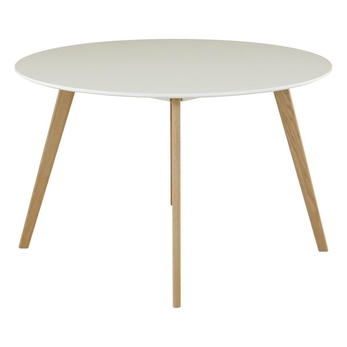 maison du monde Table ronde laqué blanc 120 cm