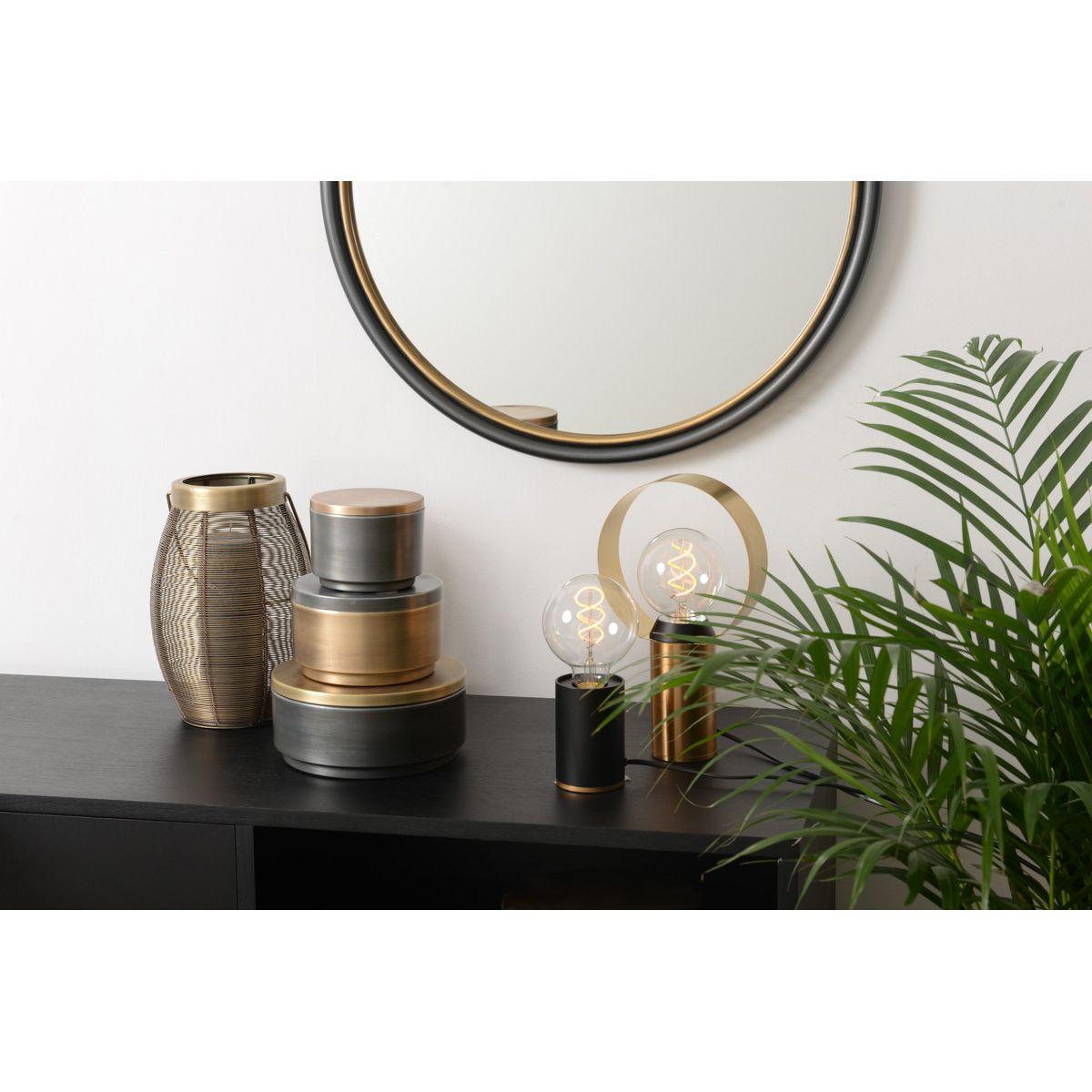 Lampe à poser en métal couleur noir