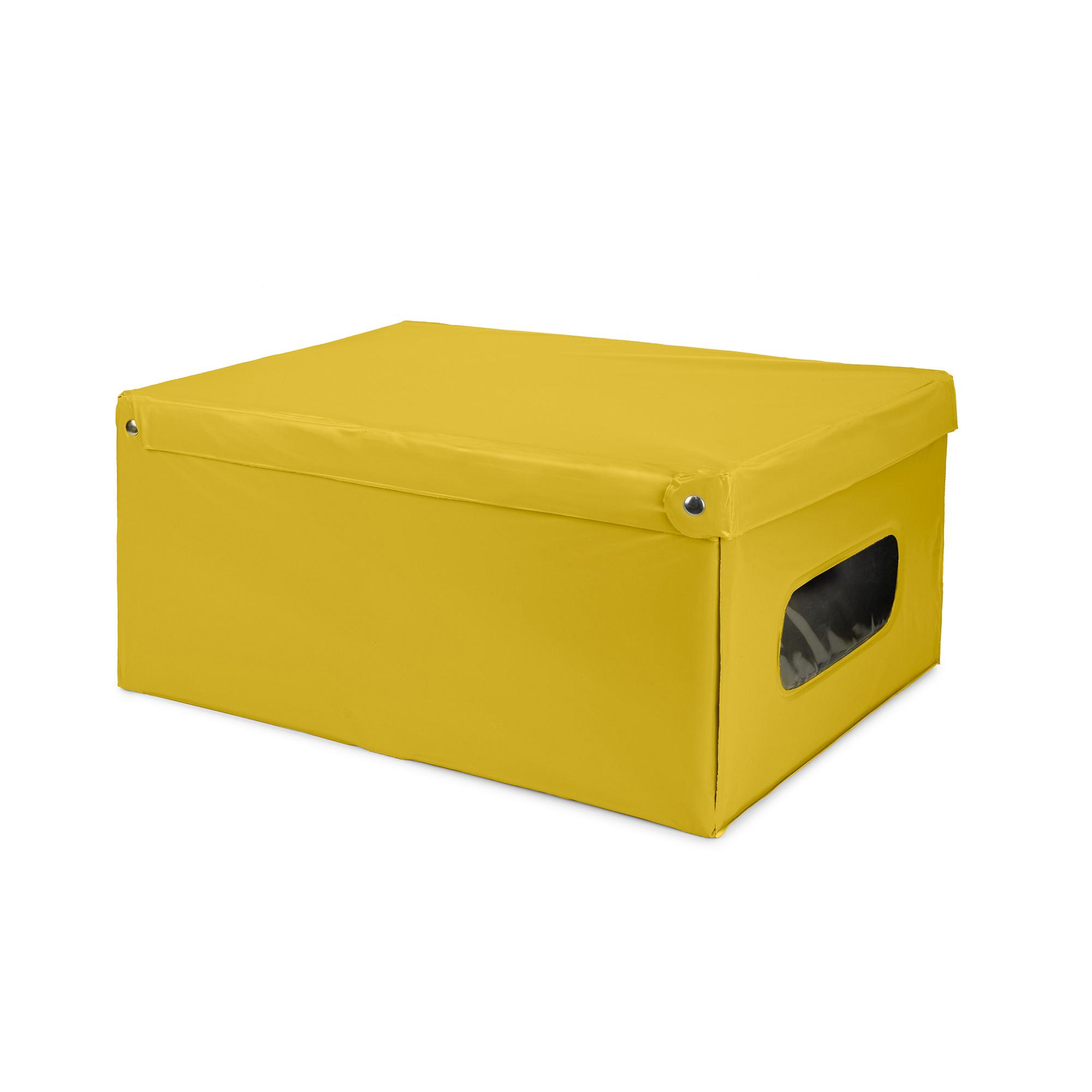 Boîte jaune en PVC 50x38cm