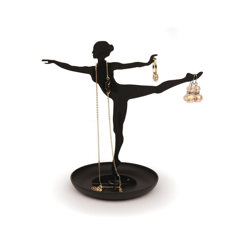 Arbre à bijoux noir ballerine