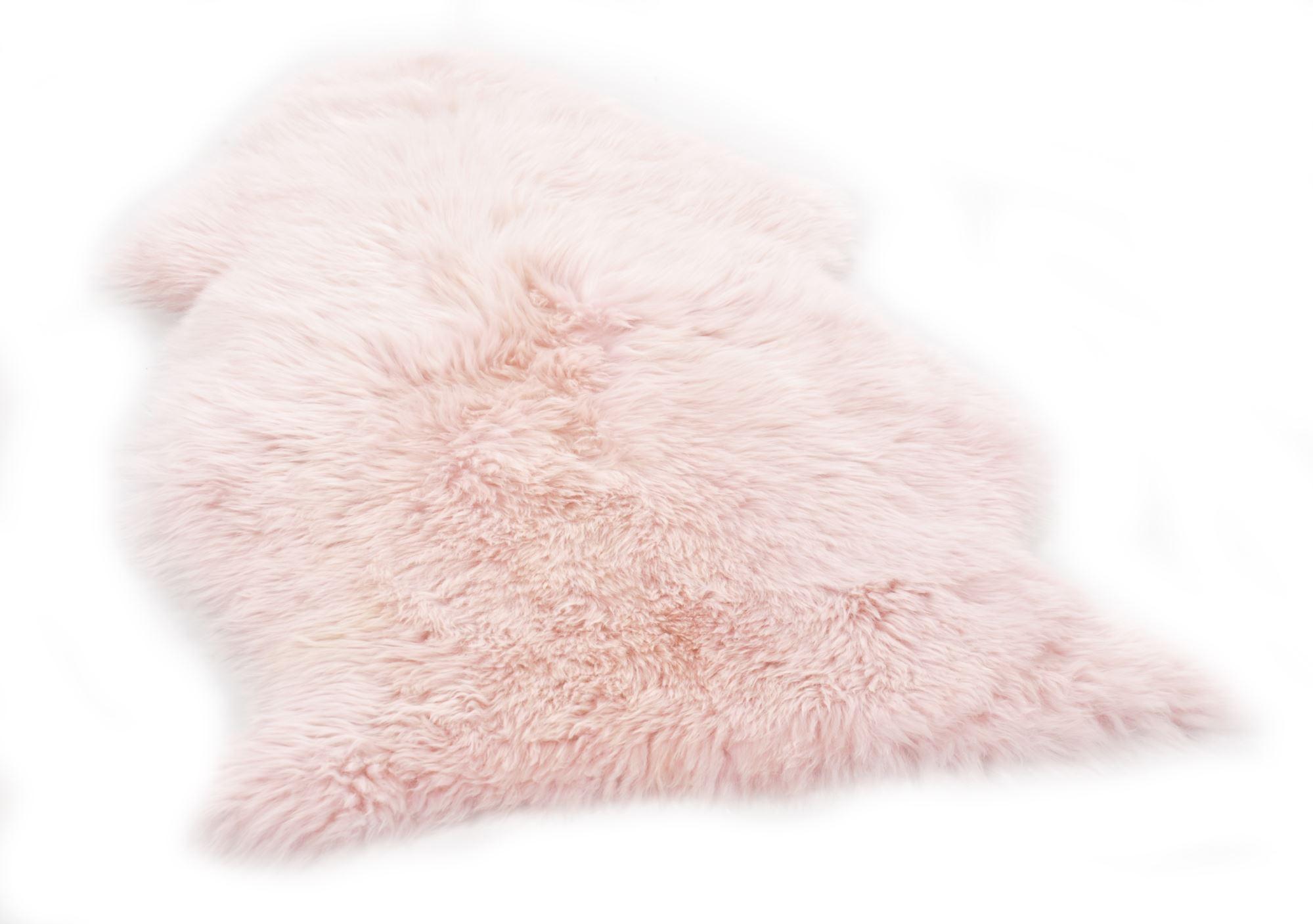 Tapis  en  laine d'agneau naturelle Rose clair 68x100