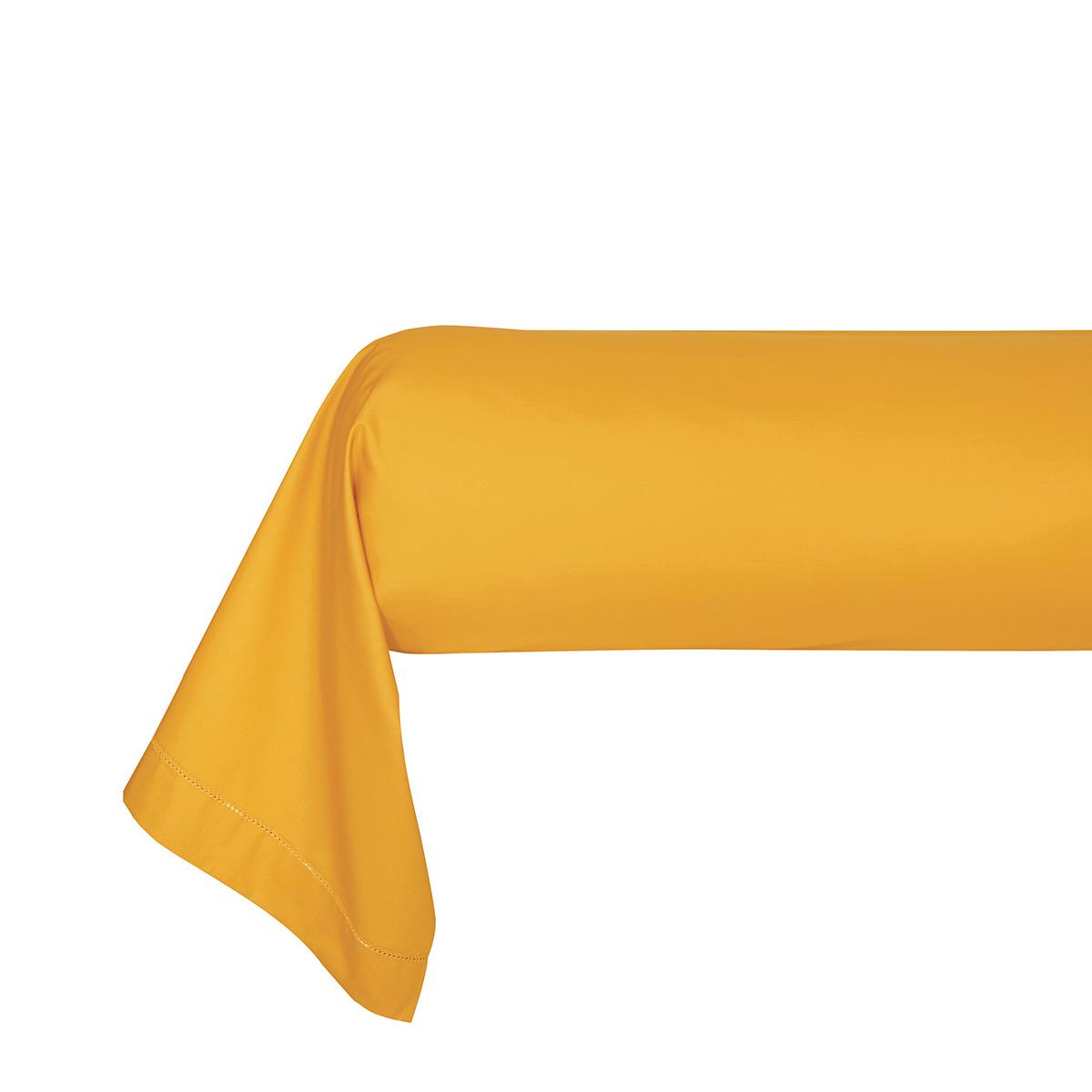 Taie d'oreiller percale Orange 85 x 210 cm