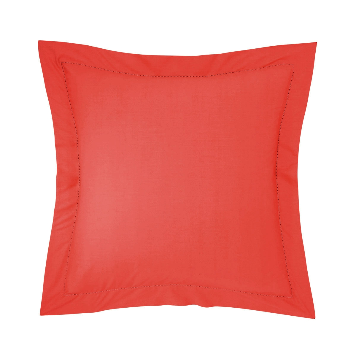 Taie d'oreiller percale Rouge 65 x 65 cm