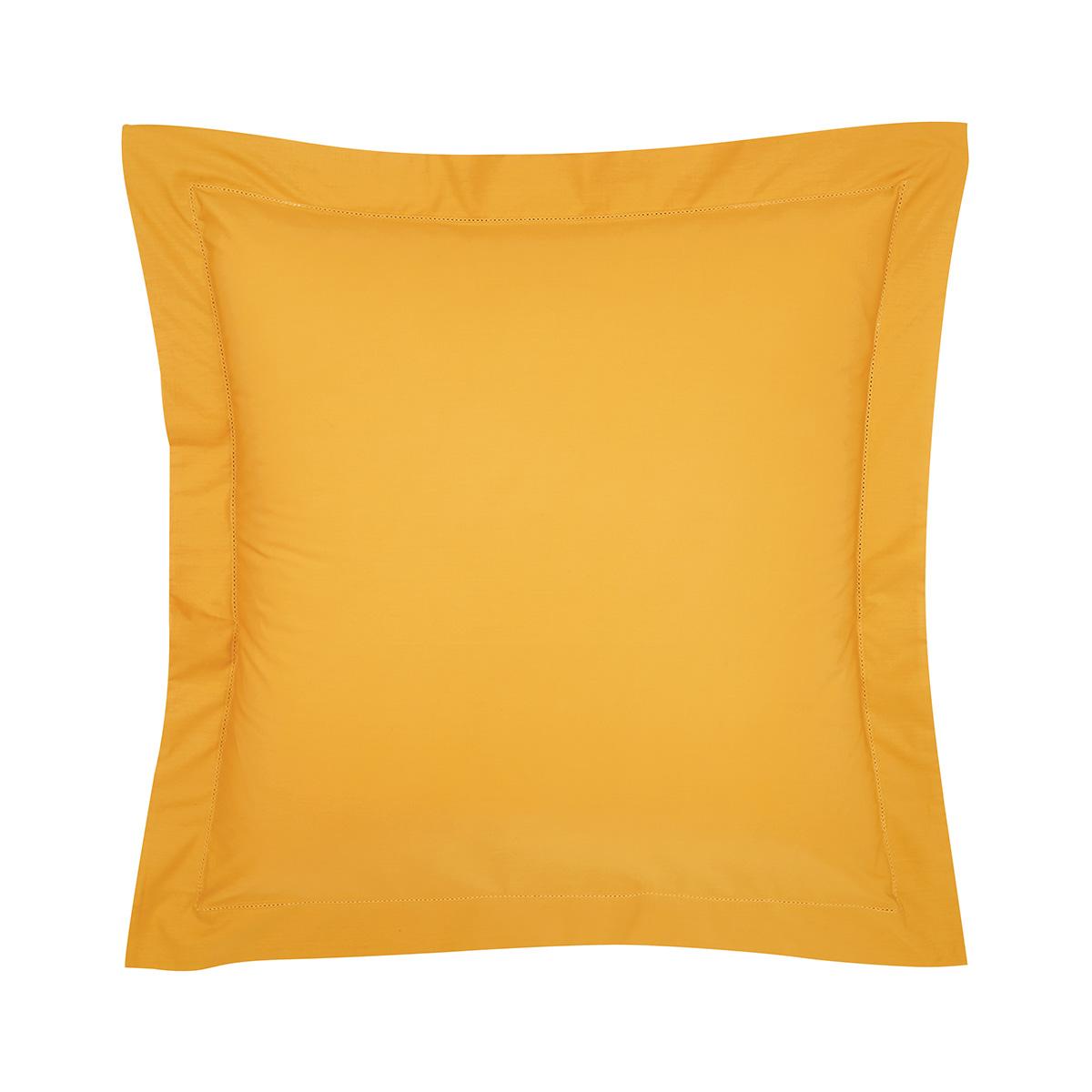 Taie d'oreiller percale Orange 65 x 65 cm