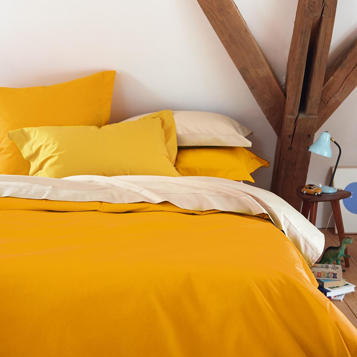 Housse de couette percale Orange 200 x 200 cm