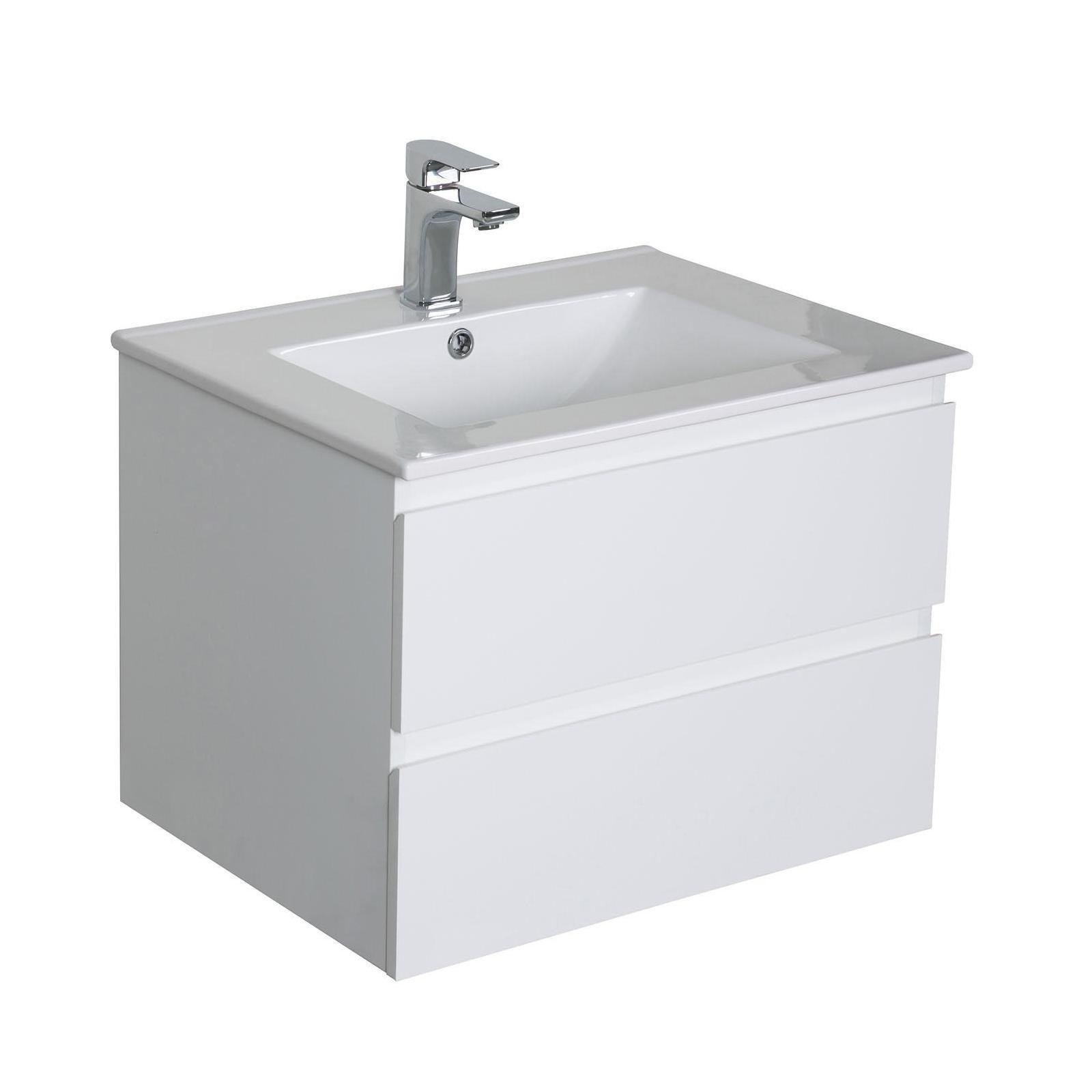 Meuble de salle de bain avec vasque Blanc