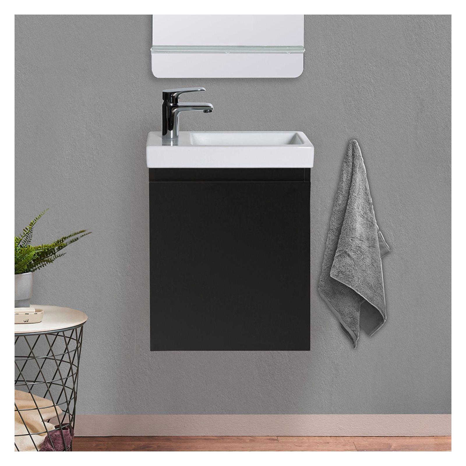 Meuble lave-mains Noir