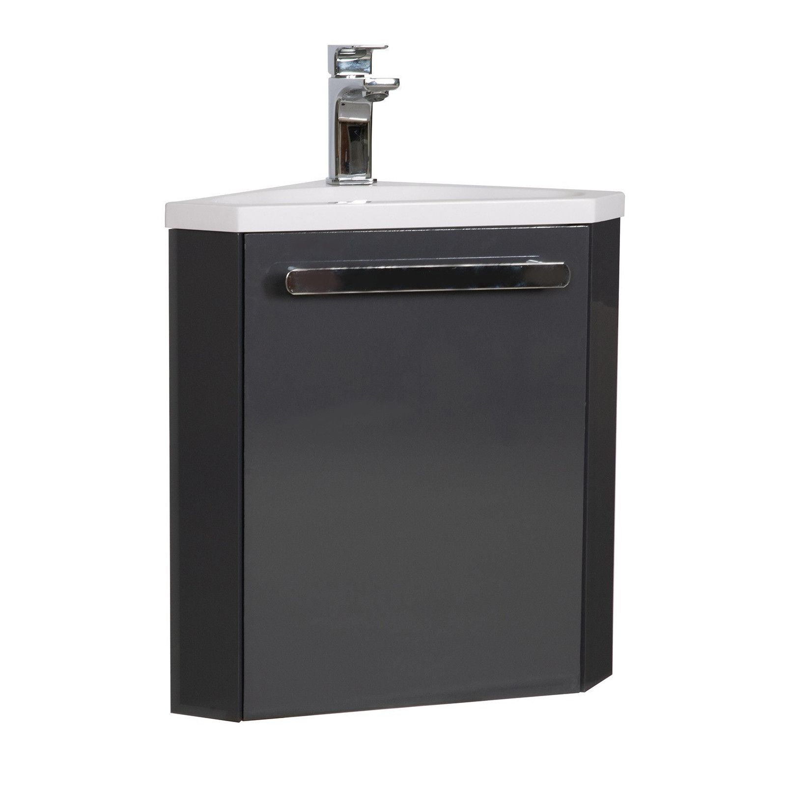 Meuble lave-mains d'angle Gris Foncé