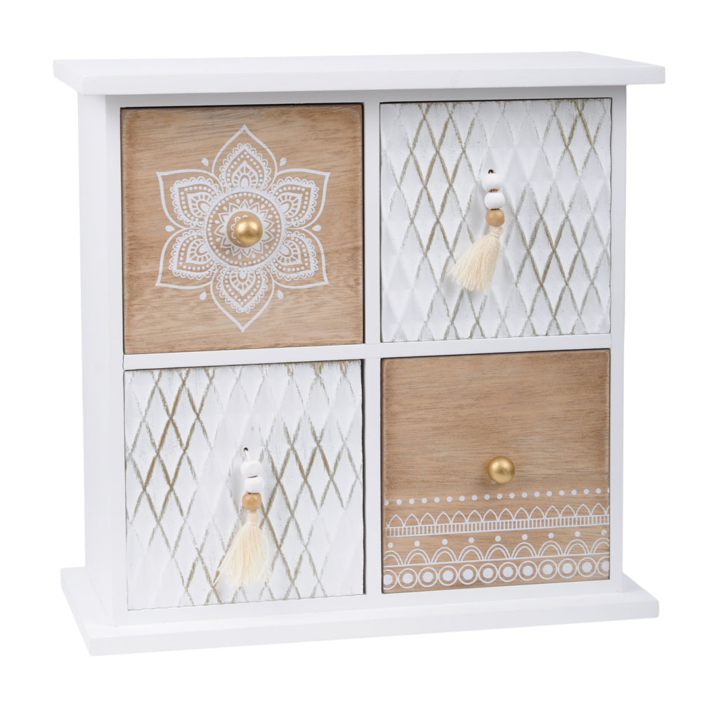 Boîte avec 4 tiroirs en bois