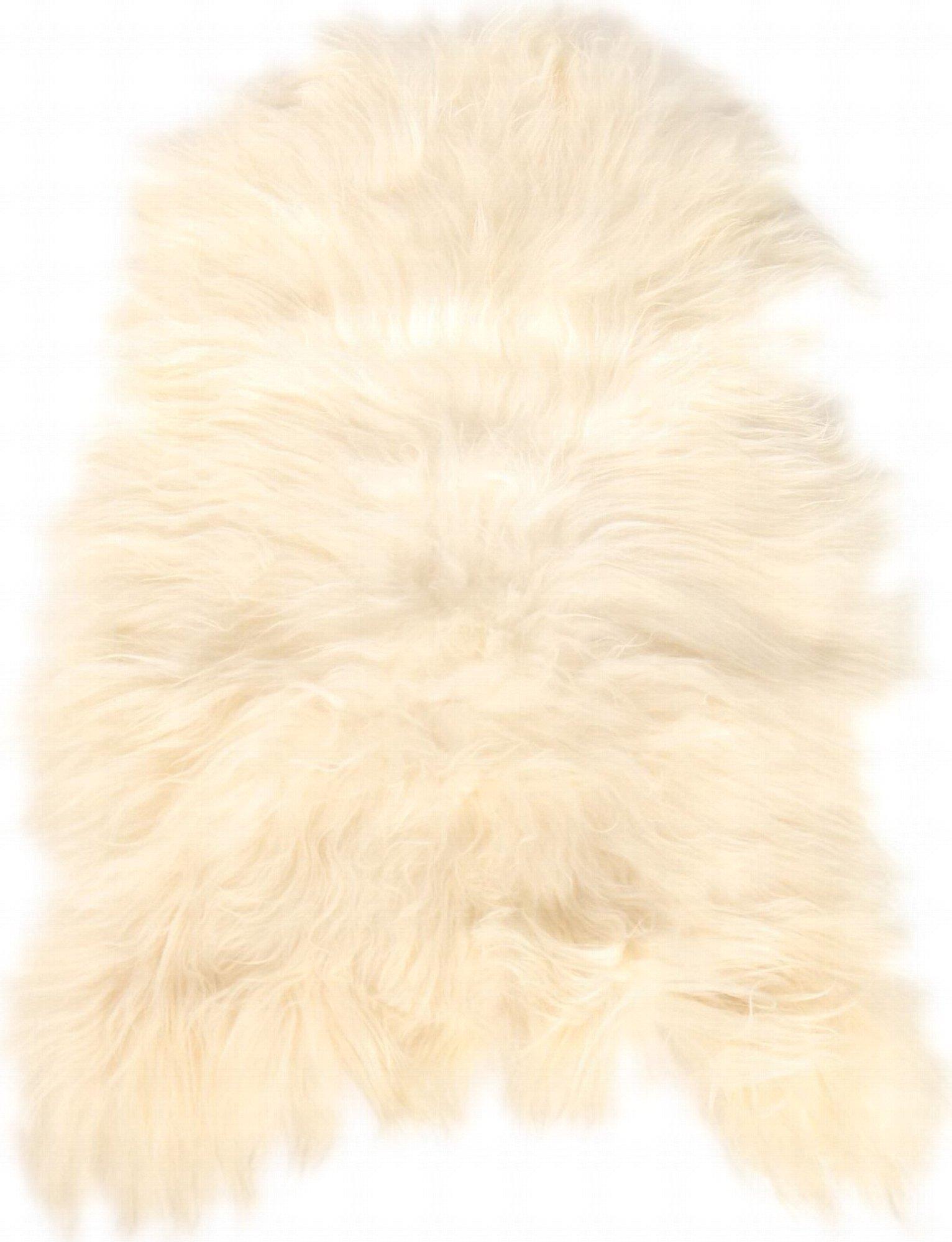 Descente de lit peau de mouton blanc 90x60
