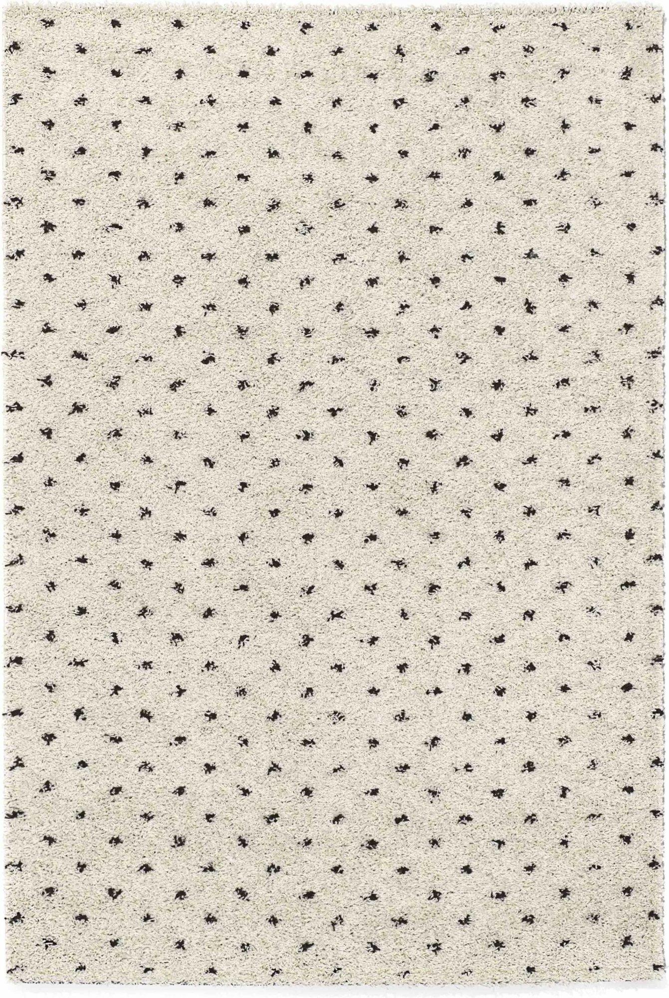 Tapis shaggy polypropylène beige 67x180