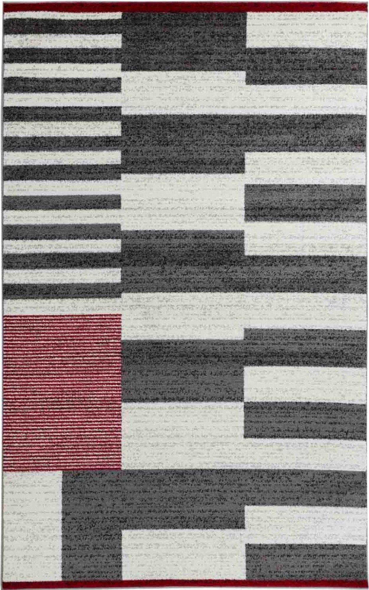 Noir ou Blanc Cheminée Couverts Géométrique Motif et dans Beau Design En Rouge