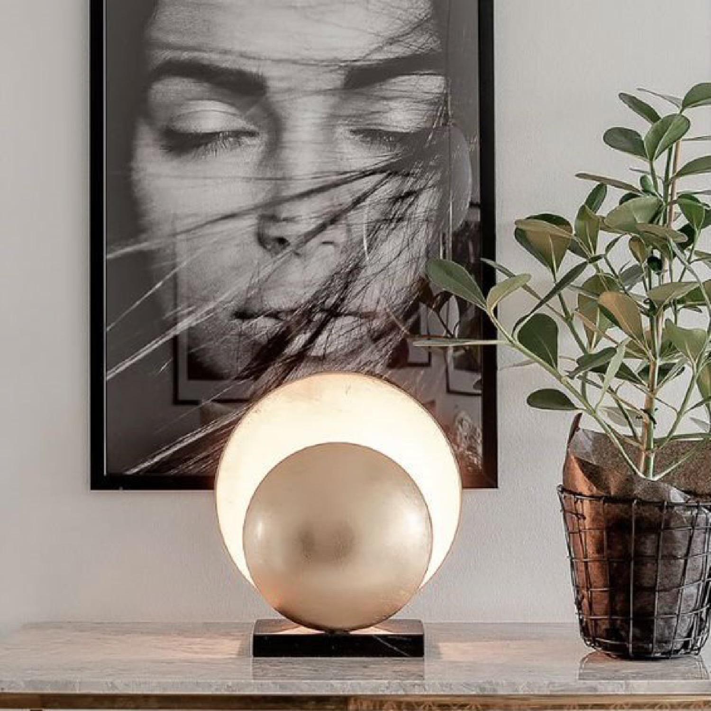Lampe à poser métal/marbre H32cm